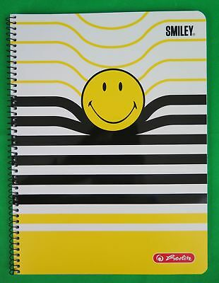 Herlitz Collegeblock Spiralblock Smiley Stripes A4 80 Blatt kariert Lineatur 28