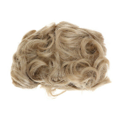 Fashion Short Imitation Mohair Wig Hairpiece for 1/6 Uncle Dolls Light Brown