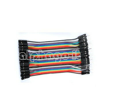 40PCS 1P-1P  Male Female Dupont wire cables jumpers 10CM 2.54MM For Arduino