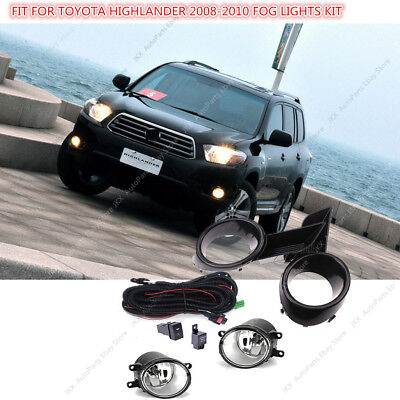 Bumper Lamp Fog Light&Switch&Wiring Kit Assy j For Toyota Highlander 2008-10
