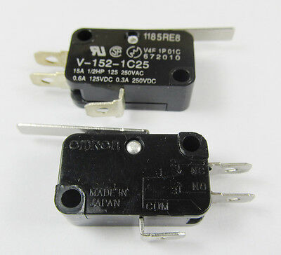 10pcs OMRON High Lever Micro Switch V-152-1C25 SPDT Thermosetting Case 28x16mm
