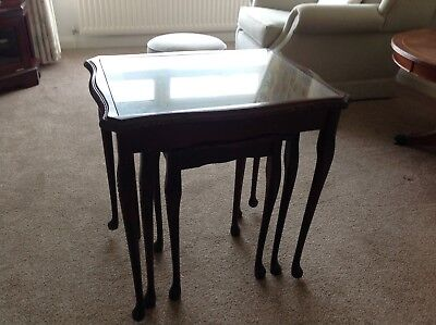 Antique Nest of 3 Tables in Queen Anne Style - Reduced Price