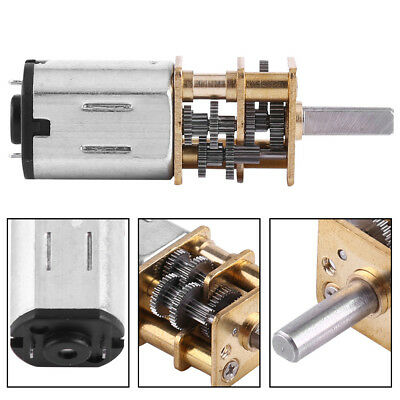 10/15/20RPM DC 6V Reversible High Torque Turbo Worm Geared Motor Reduction Motor