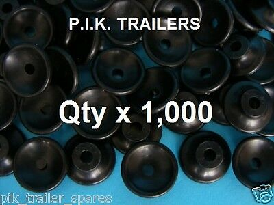 Box of 1,000 Plastic Button CLEAT for trailer cover tie down lashing bungee cord