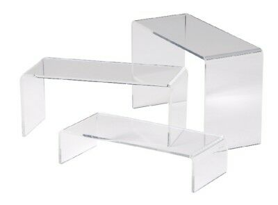 Acrylic Display Retail Bridges High Quality Stands Risers Shelves Steps
