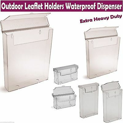 A4 A5 Dl Business Card Outdoor Leaflet Holders Waterproof Dispenser Display
