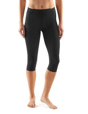 SKINS Women's A400Compression 3/4 Capri Tights, Skyscraper Black, Small