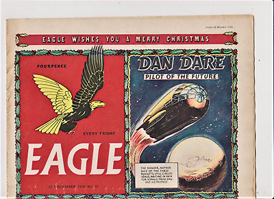 EAGLE # 37 Volume 1 Comic 22nd December 1950 1st Christmas Issue Nice Condition