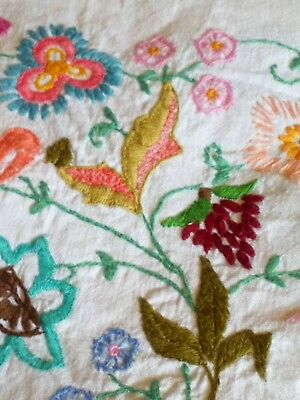 """Large Vintage Embroidered Tablecloth 48"""" X 68"""""""