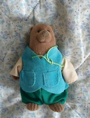 Maple Town Oscar Otter vintage flocked Calico Critter Style