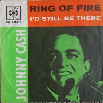 JOHNNY CASH - RING OF FIRE / I'd Still Be There - ONLY COVER / NUR DAS COVER !!!