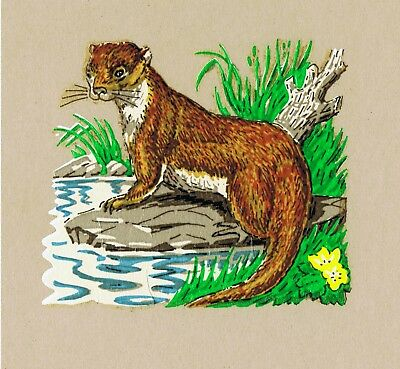 10 Small Otter Decals Image Transfers Countryside craft Decoration Unique Retro