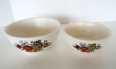 2 MCCOY SERVING BOWLS 7026 & 7027 Vintage ESTATE LOT Made In USA Mid Century