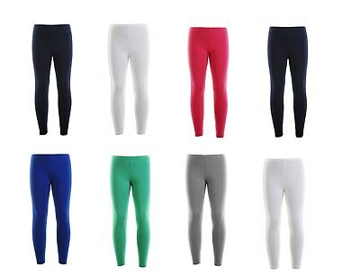 Ladies Womens Girls Kids Cotton Leggings Dancing Yoga Full Length All Sizes