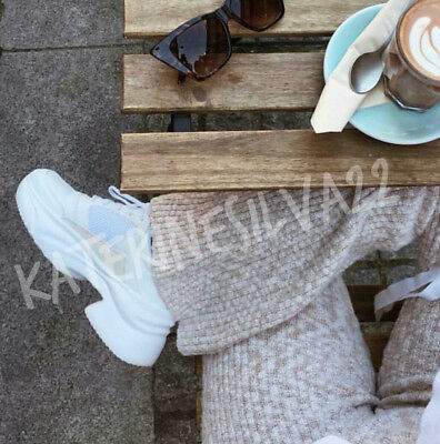 Zara New Woman Ss18 White Chunky Sole Sneakers Ref 1417 301 94 89
