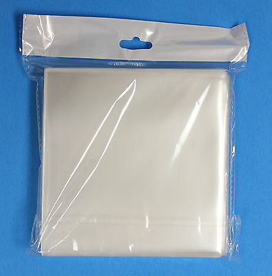 1,000 Generic CPP CD /DVD Clear Plastic Sleeve With No Flap 100 Micron