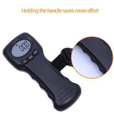 Digital Handheld Electronic LCD Luggage Travel Bag Weight Portable Scale 60 Kg