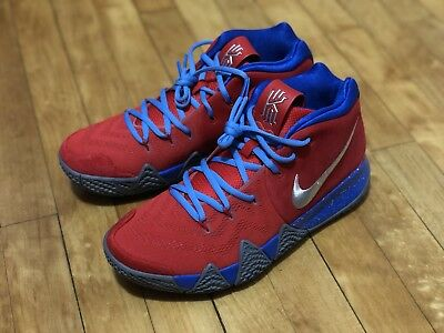 53ced3d2bbe2 NIKE KYRIE 4 ID sz 9 Red Blue Gray All Star BHM Confetti 1 2 3 ...