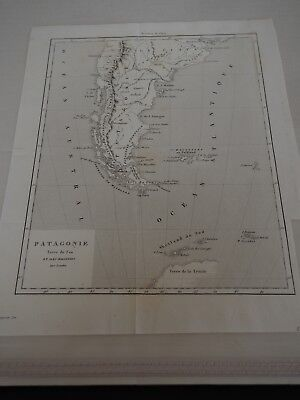 "Antique Map ""Patagonie Tierra del Fuego And Iles Malouines"" French"