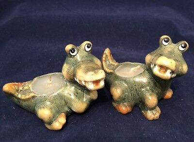 """4 1/2"""" Cute Alligator Candle Figurines. They are the cutest. Free shipping."""