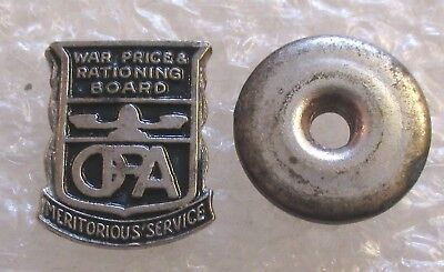 Vintage OPA War Prices/Rationing Board Meritorious Service Pin-WW2 Home Front