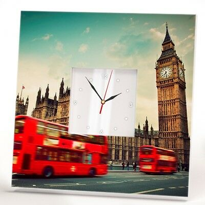 London Big Ben England Wall Clock UK Travel Double Decker Bus Gift Home Decor