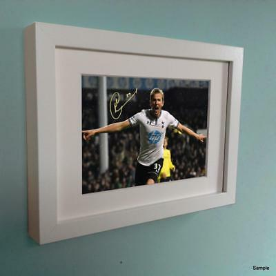 Signed Harry Kane Tottenham Hotspur Spurs Autographed White Photo Picture Frame