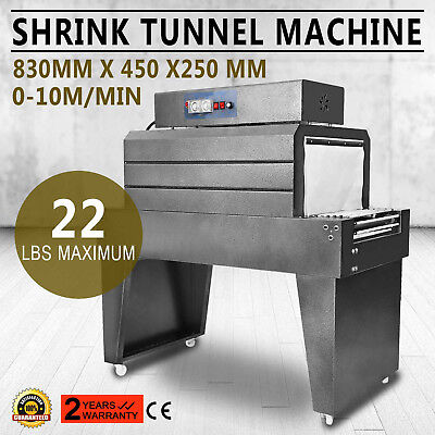 Thermal Heat Shrink Packaging Packing Machine Tunnels Auto 41 amps POF/PVC/PP/PE