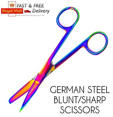 Nurses Scissors Surgical Veterinary Paramedic Bandage Blunt Rounded German Steel