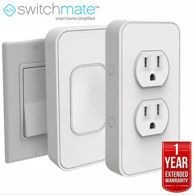 Switchmate Instant Smart Home Starter Kit, Rocker w/ Outlet + Extended Warranty