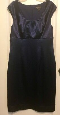 Womens Connected Apparel Navy Cocktail Sheath Dress Size 16