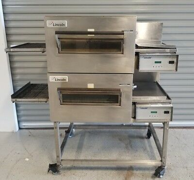 Lincoln Impinger 1132 Double Electric Conveyor Pizza Sandwich Oven