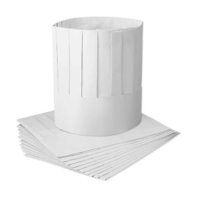 WILLBOND 12 Pack Disposable 9 Inch Paper Chef Tall Hat Set Adjustable Kitchen...