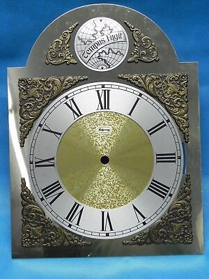 "Vintage / Antique Ridgeway Grandfather Clock Tempus Fugit Dial Face 9-7/8"" x 13"""