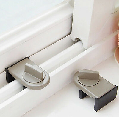 Kids Safe Security Sliding Window Door Sash Lock Restrictor Safety Catch Hot