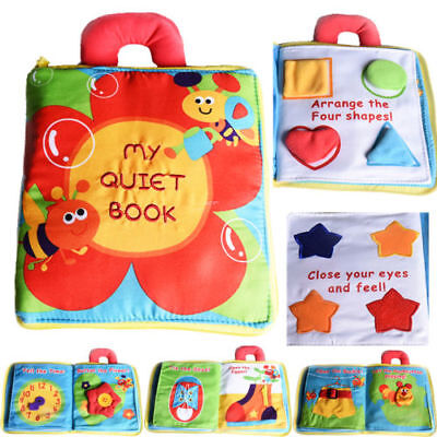 Kids Baby 3D Intelligence Development Cloth Book Bed Flower Educational Toy