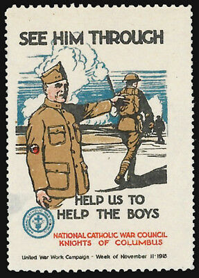 WWI United War Work Campaign - Nat. Catholic War Council, Knights of Columbus