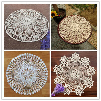 Small Round Table Cloths.Round Table Cloth Cover Vintage Hand Crochet Cotton Lace Tablecloth 23inch Small