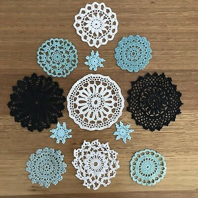 Crochet Cut Vintage Medallions Assortment Mini Doileys