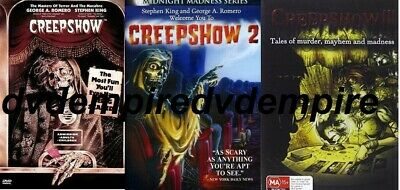 Creepshow 1 2 & 3 set Stephen King DVD New Australia All Regions