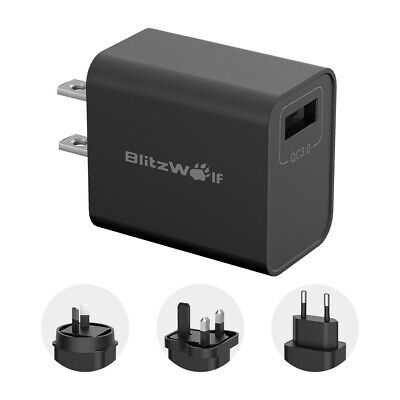BlitzWolf BW-S9 18W QC3.0 USB Charger Adapter EU US UK AU + 2.4A Micro USB Cable