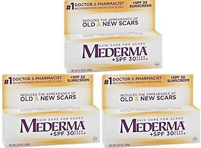 MEDERMA SPF 30 Skin Care For Scar Cream, 0.70 oz Each x 3 Boxes BB 02/19