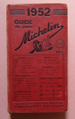 § guide MICHELIN rouge FRANCE 1952