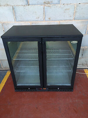 Infrico 2 Door Under Counter Drinks Display / Bar Chiller