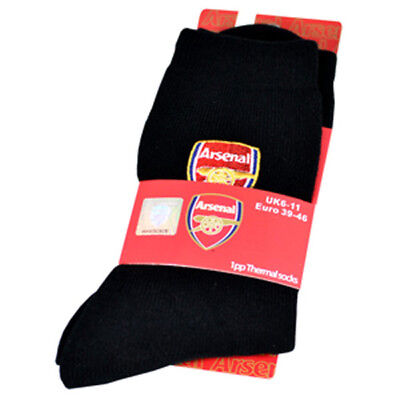 Arsenal Fc Winter Thermal Insulated Socks Black Colour Gunners New Gift Xmas