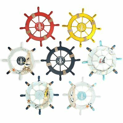 28cm Nautical Beach Wooden Boat Ship Steering Wheel Home Wall Decor Newest