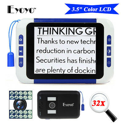 "3.5"" LCD Electronic Reading Digital Magnifier 2-32X Eyesight-Aiding CE&RohHS AU"