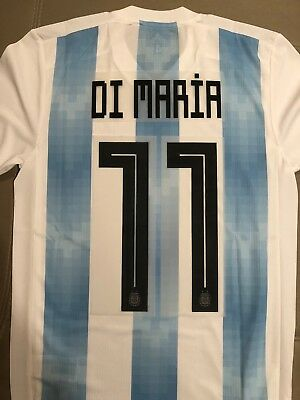 DI MARIA ARGENTINA  11 Name Number Professional Size 2018 World Cup ... a47985132