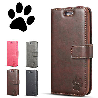 Luxury Genuine Real Leather Flip Case Wallet Cover For Samsung Galaxy S9 A8 2018