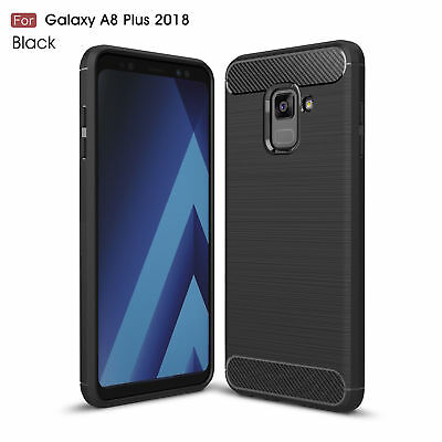 For Samsung Galaxy A6 A8+ 2018 S9+ Brushed Silicone Soft Rubber Slim Cover Case